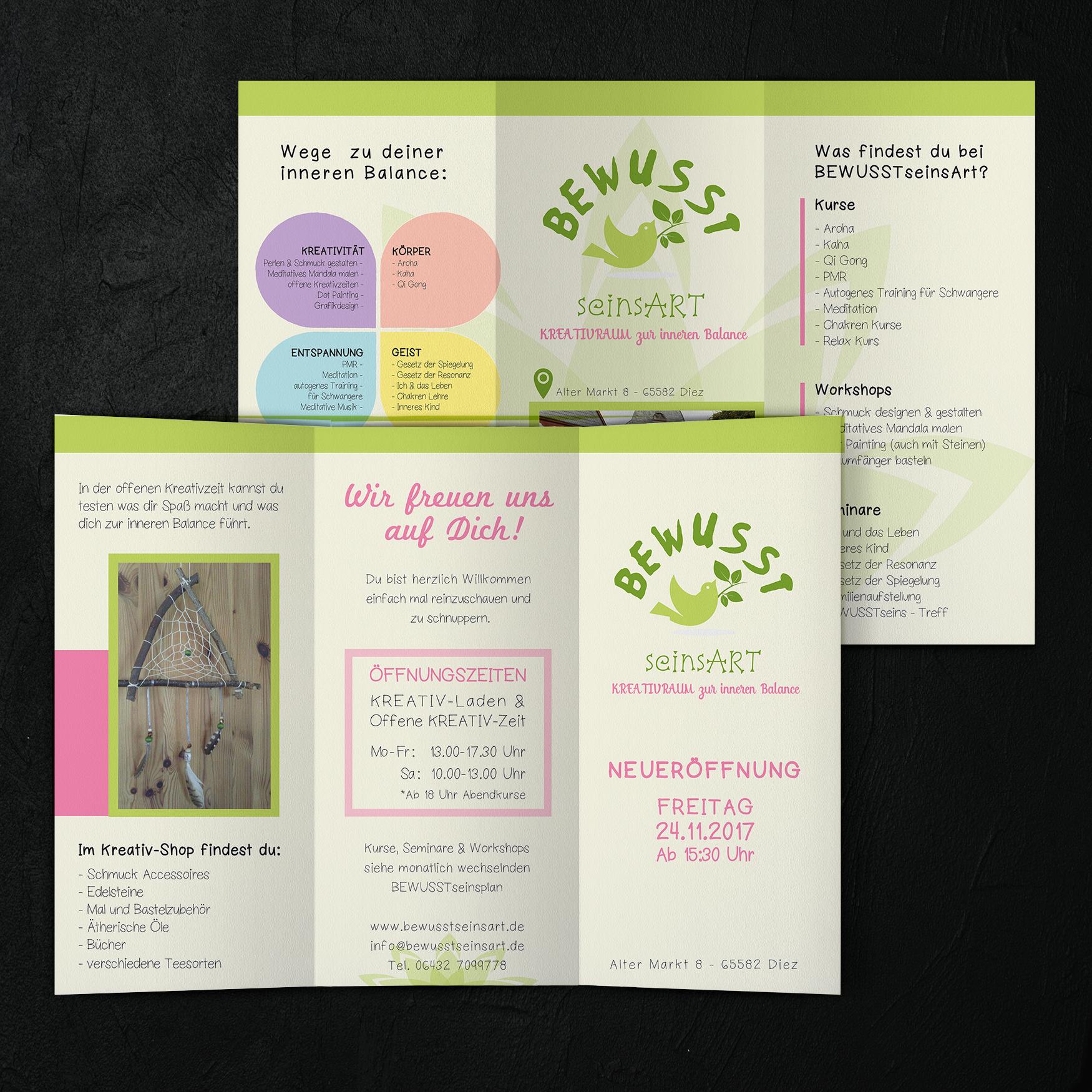 Flyer 6 Seiten -BewusstseinsArt