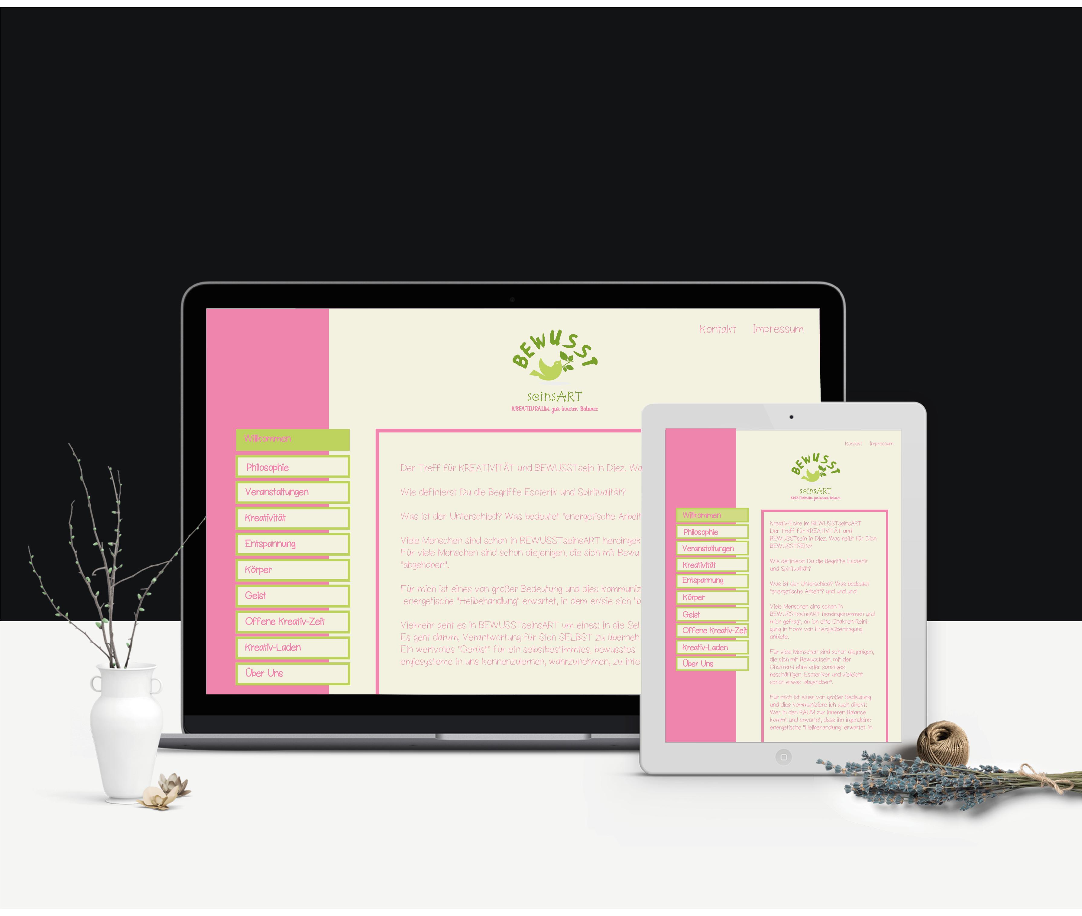 Webseite - Bewusstseinsart