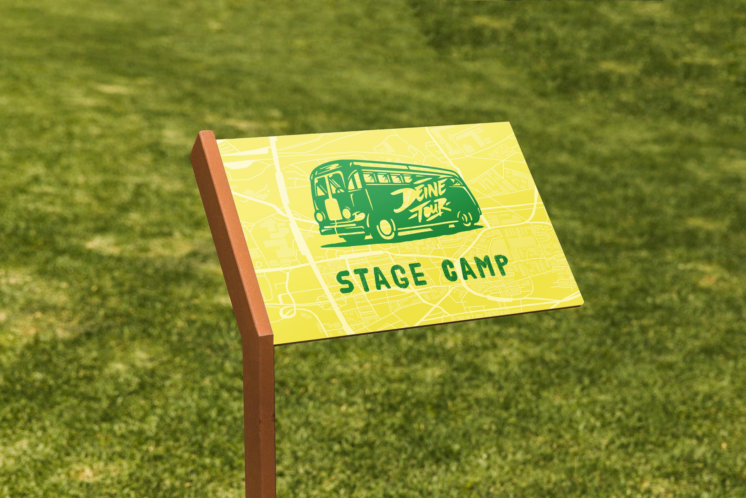 Schild - DeineTour Stage Camp
